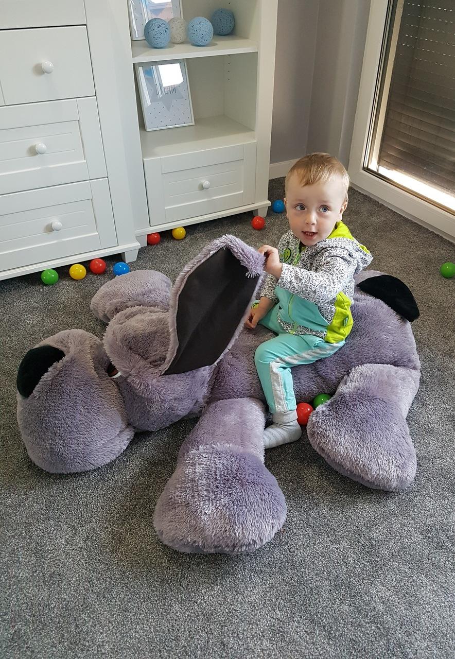 teddyb r xxl teddy hund riesen stofftier pl schtier geschenk kuscheltier grau ebay. Black Bedroom Furniture Sets. Home Design Ideas