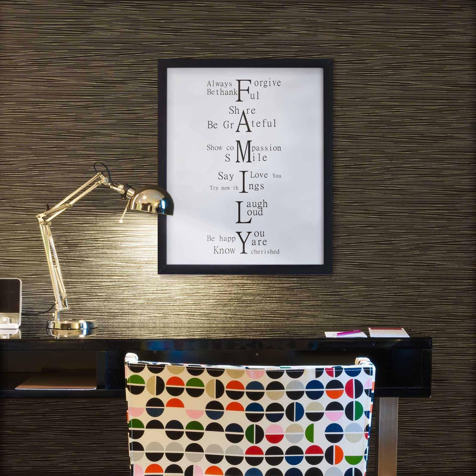 bild bilder mit spr chen rahmen familie wei und schwarz poster geschenk ebay