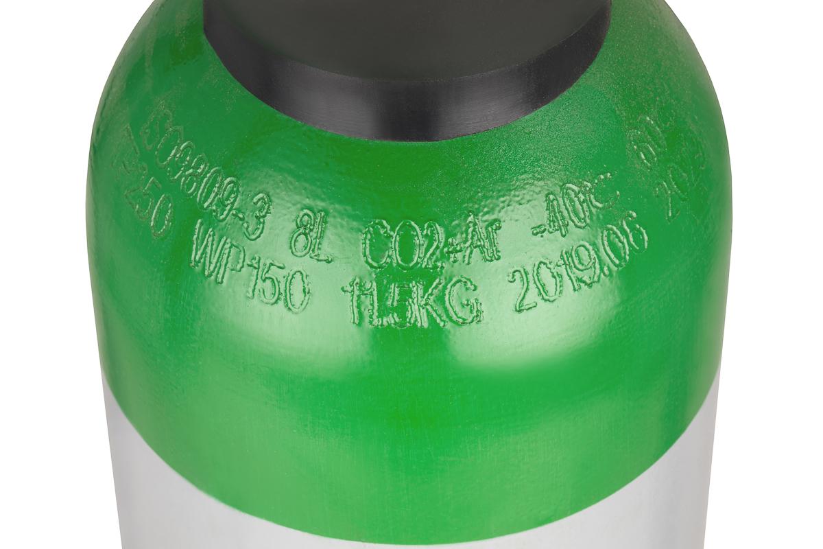 Atal 5 argon//co2 mix gas bottle cylinder 1.8 m3 8 l 150-180bar mig tig welding