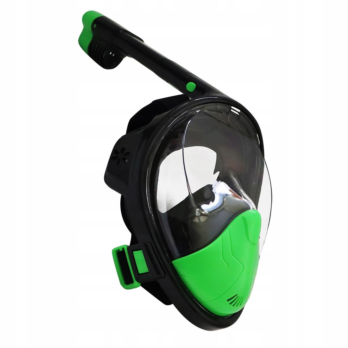 Maska z fajką L/XL czarno-limonka