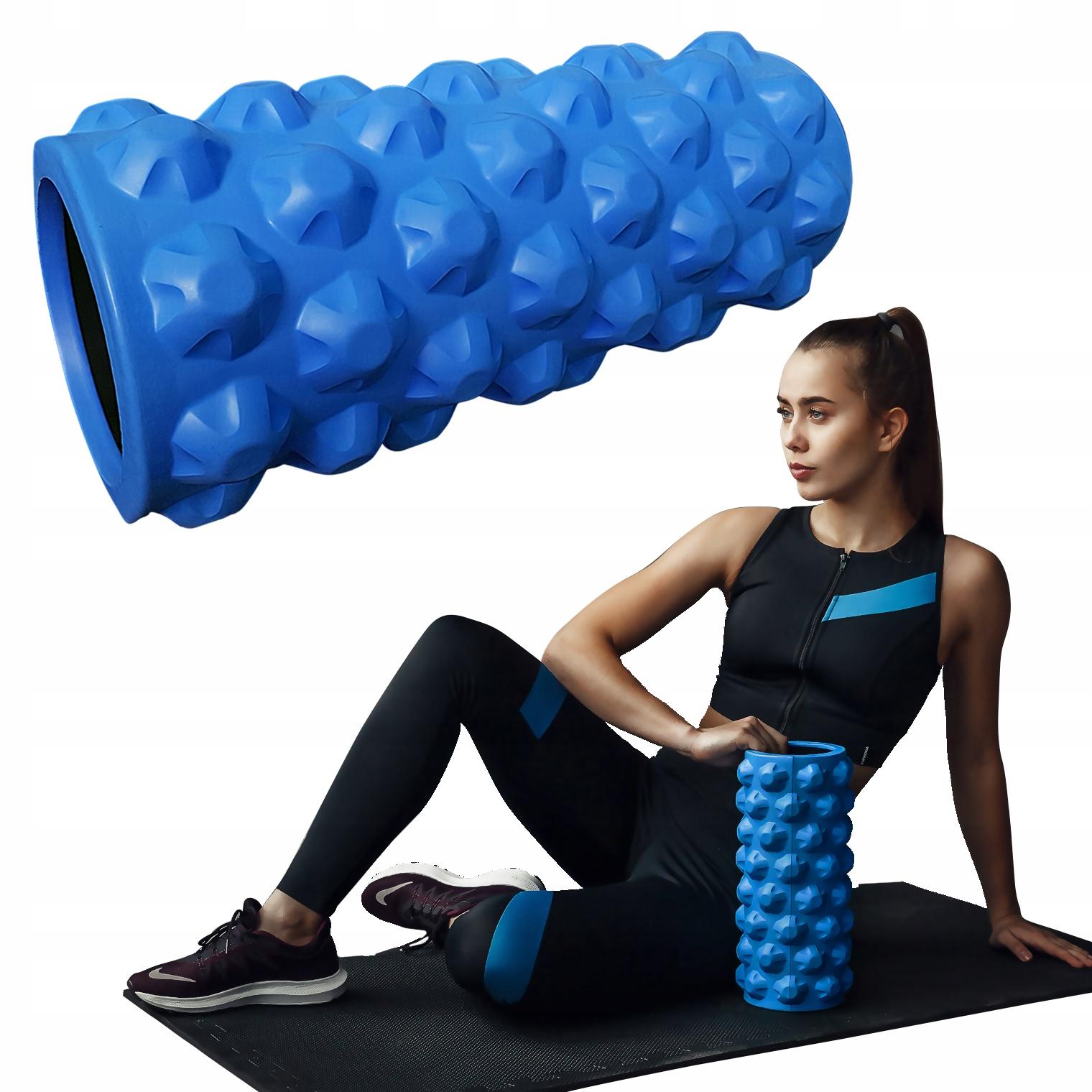 Wałek-roller do ćwiczeń -niebieski