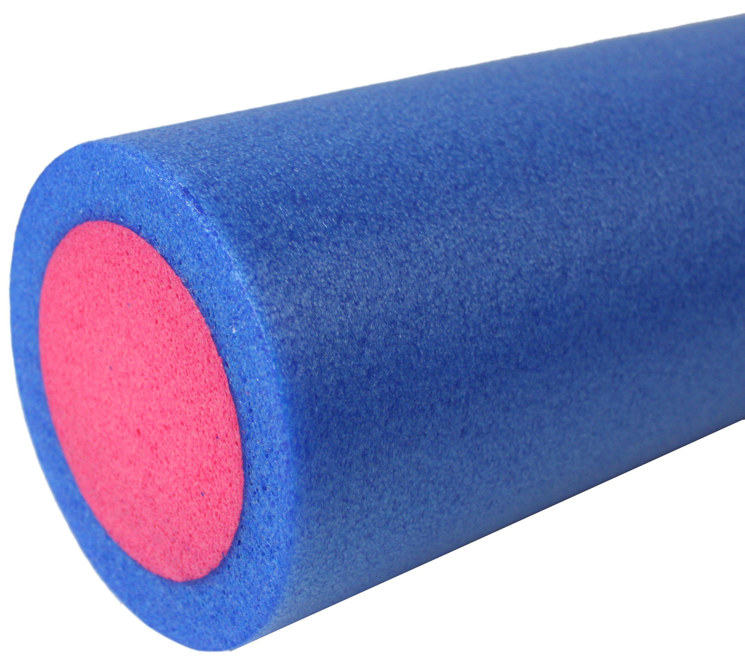 Wałek do ćwiczeń pianka pe,  niebiesko-różowy