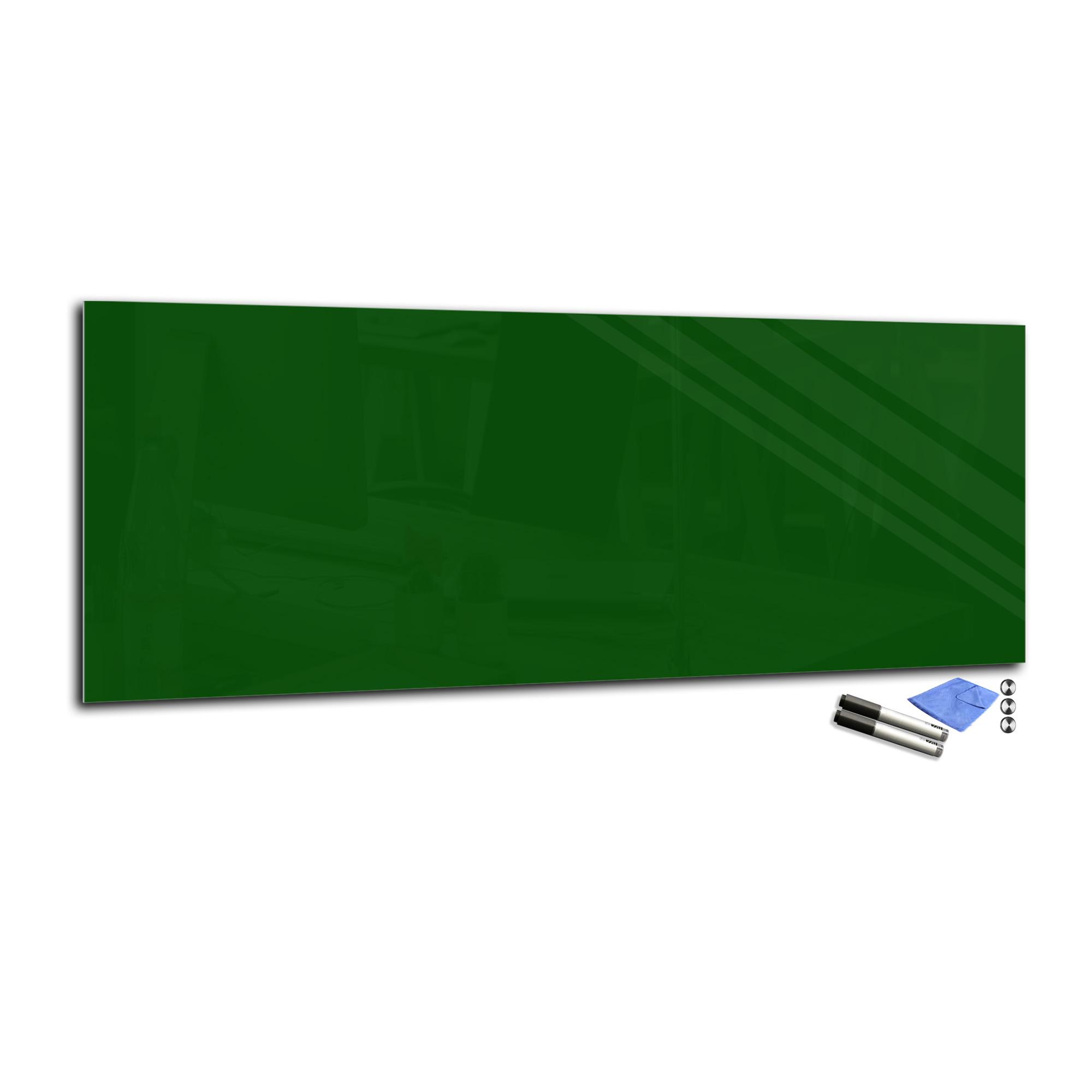 Magnetic Glas Board Temperot Glas Markerboard T01 40x100cm dark Grün