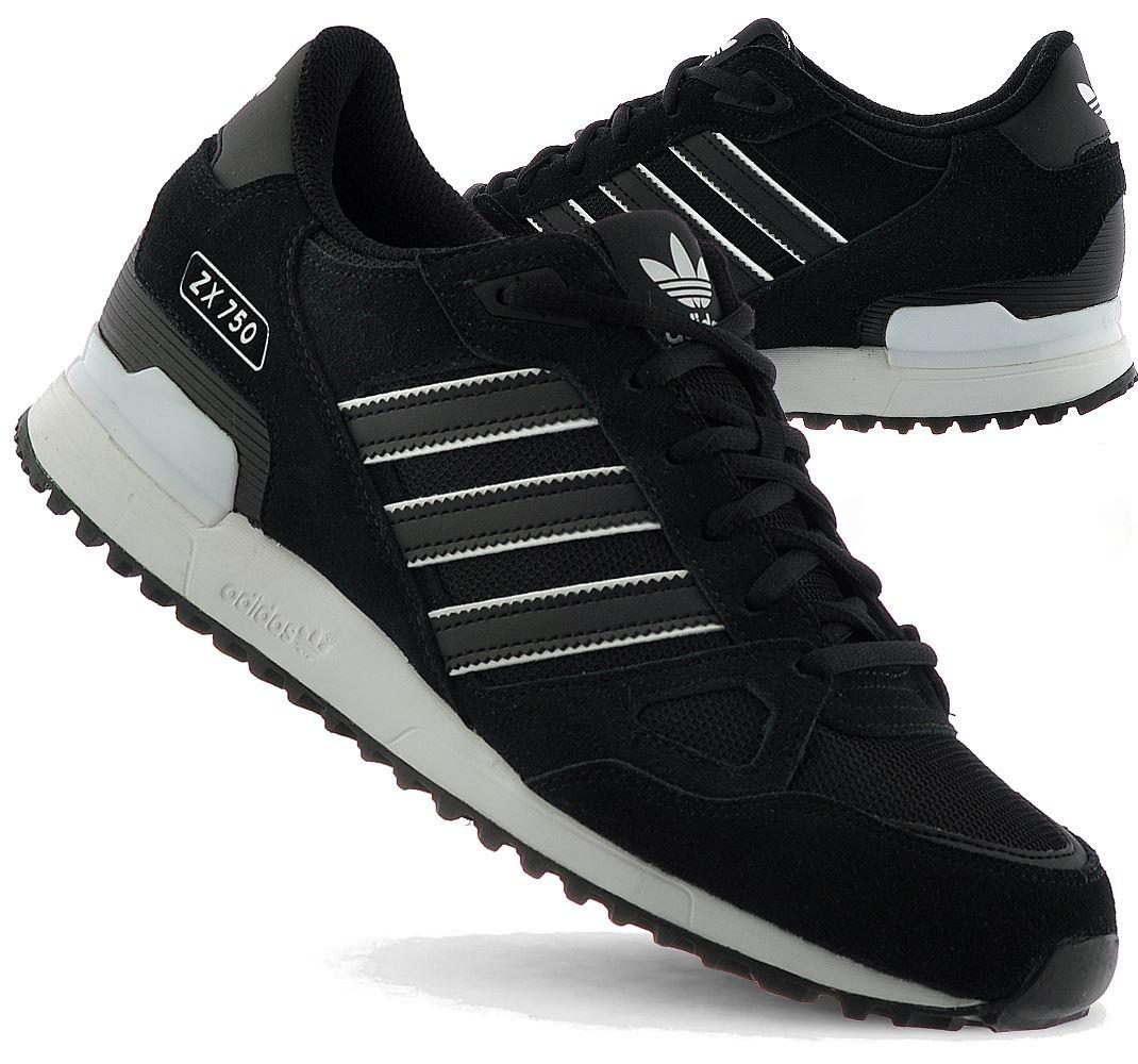ADIDAS ZX 750 Herren Herrenschuhe Sneaker Turnschuhe Schwarz Black Neu BY9274
