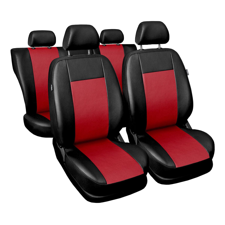 Fiat Ducato I BUS 1+1 Vordersitze Rot Universal Autositzbezüge Schonbezüge Auto