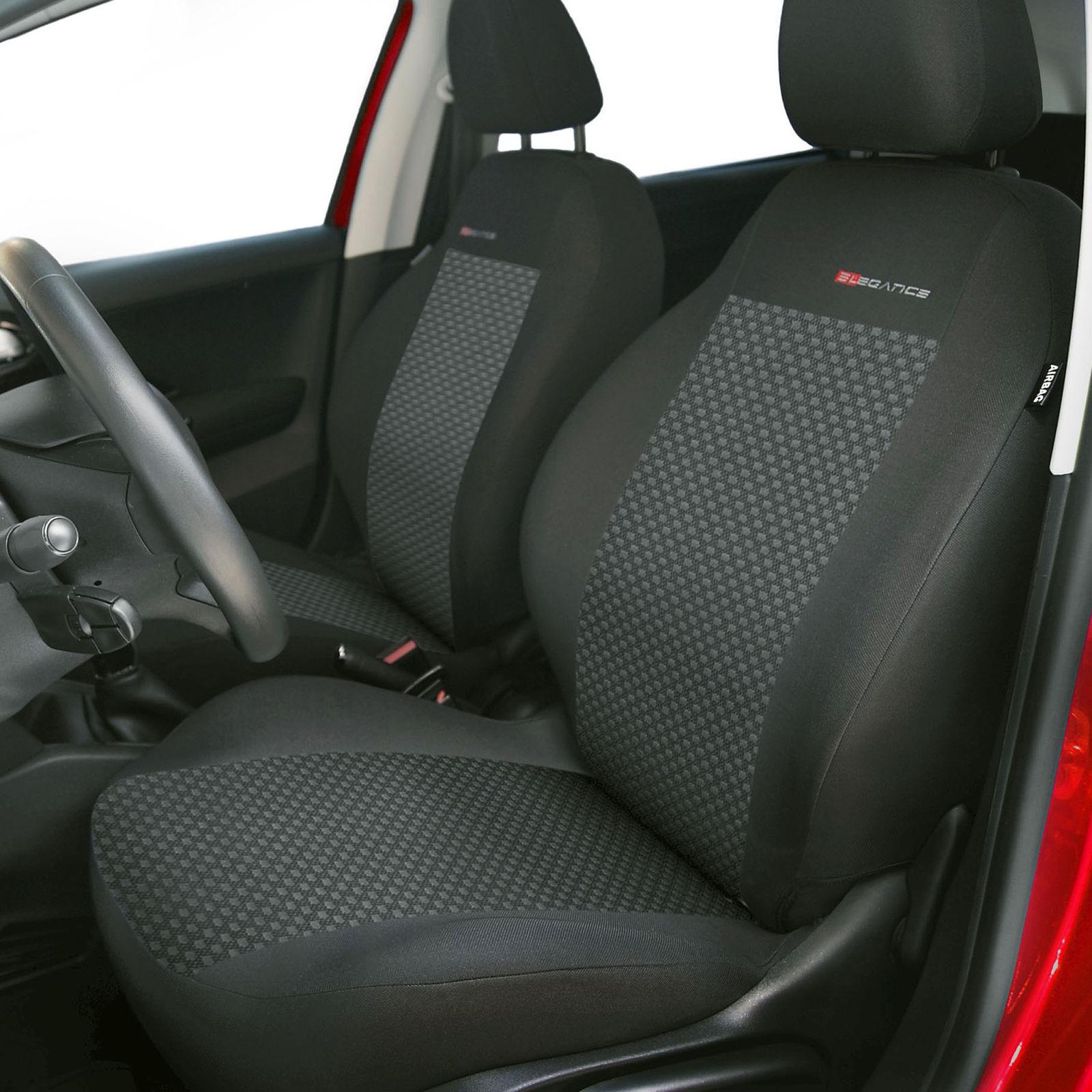 Autositzbezüge für Audi A4 B5 Sedan 94-00 5-Sitze Grau Sitzbezüge Schonbezüge