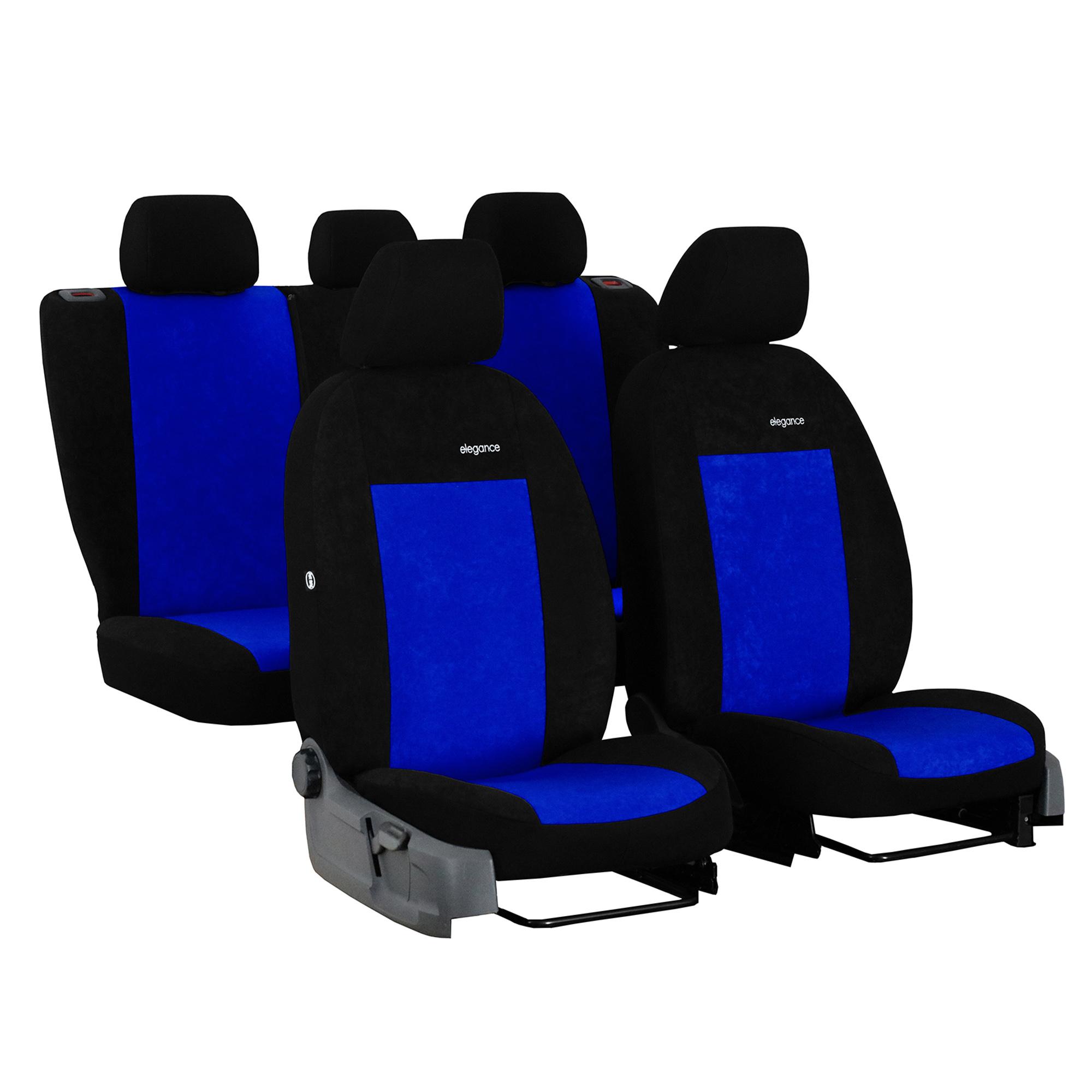2x LUX Satz Sitzbezüge Schonbezüge Grau für KIA Mazda MINI Mitsubishi Nissan