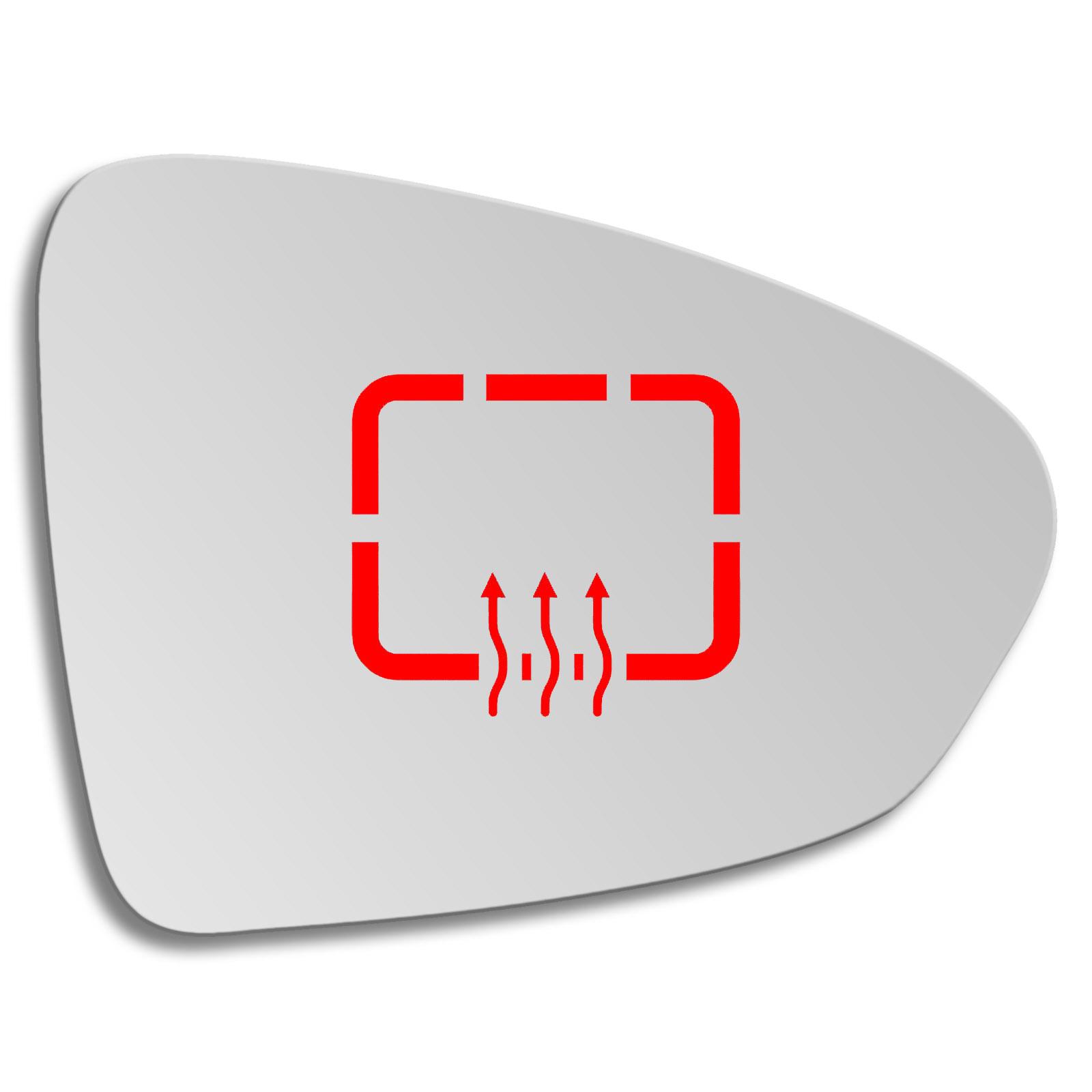 Spiegelglas für FIAT TIPO ab 2015 rechts asphärisch beheizbar elektrisch