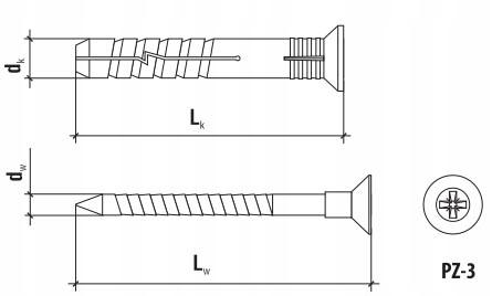 Kolek Rozporowy Szybki Montaz Rys Techniczny