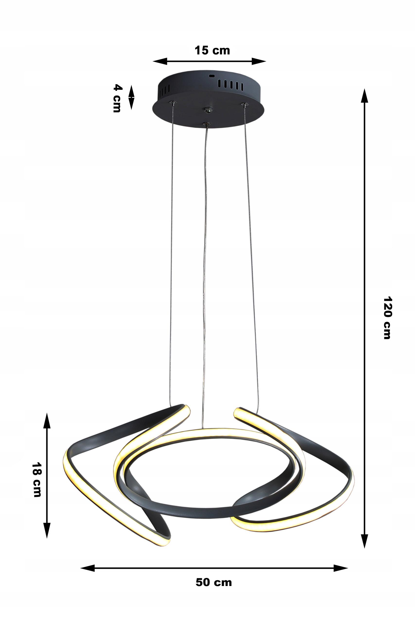Futurystyczna lampa LED Wobako Helix III - modernistyczna lampa led  - oświetlenie liniowe