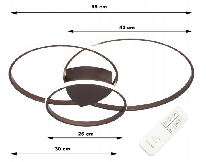 Lampa Oxygen III LED Wobako wymiary