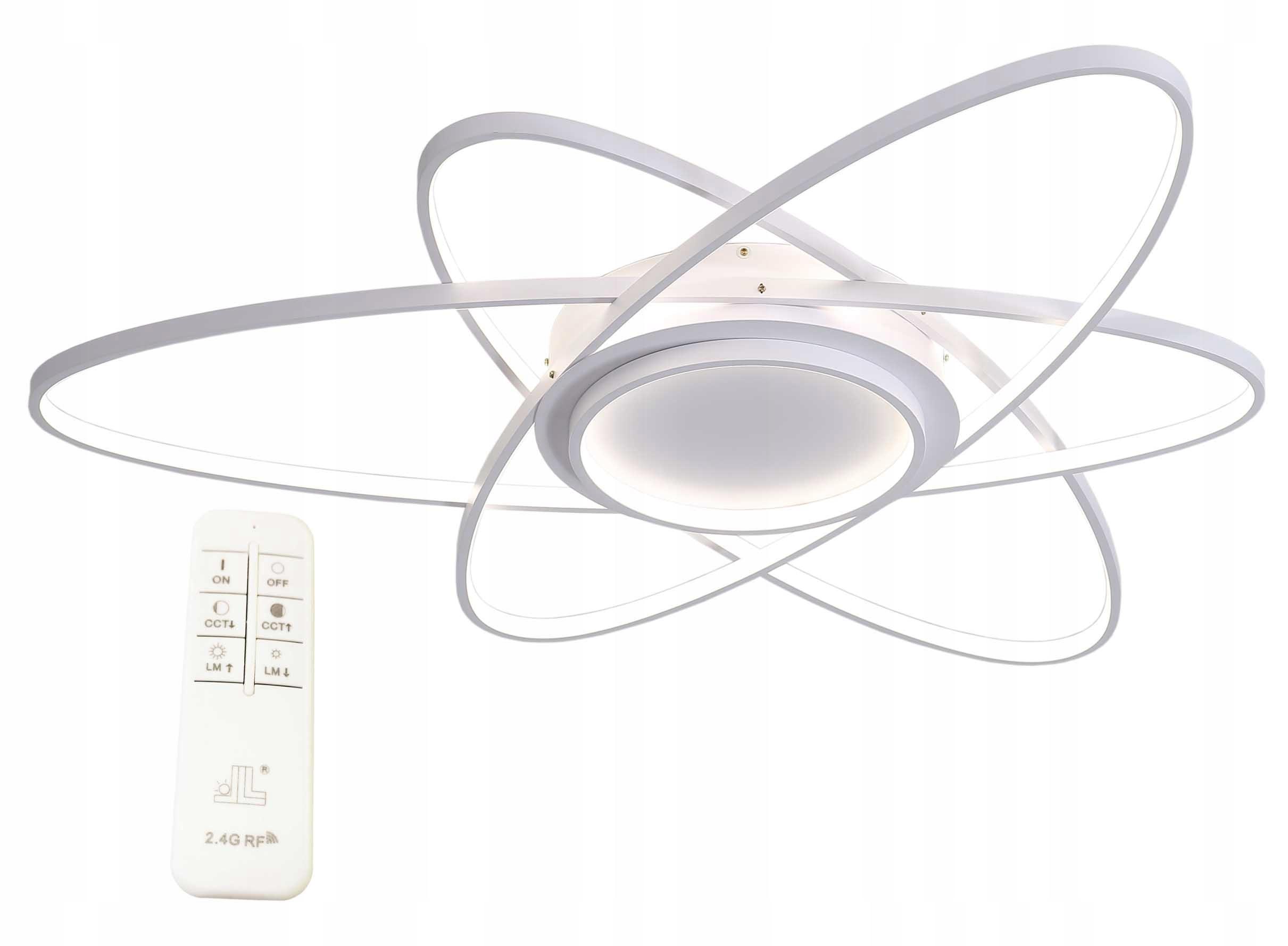 Nowoczesna futurystyczna lampa LED Orbit II Wobako zdalne sterowanie