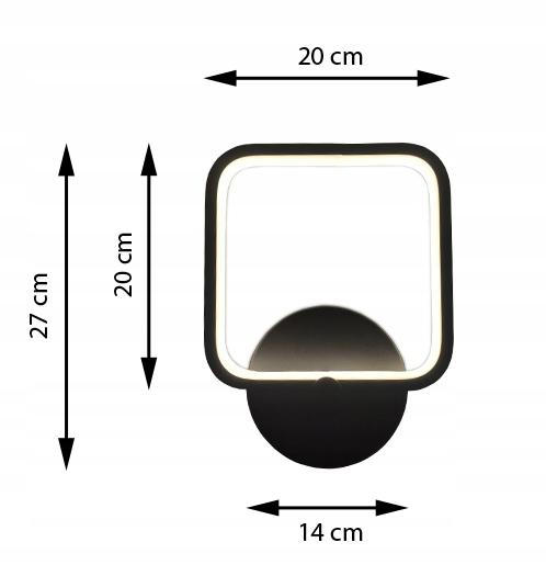 Lampa ścienna LED Wobako Fabio rozmiar 20cm