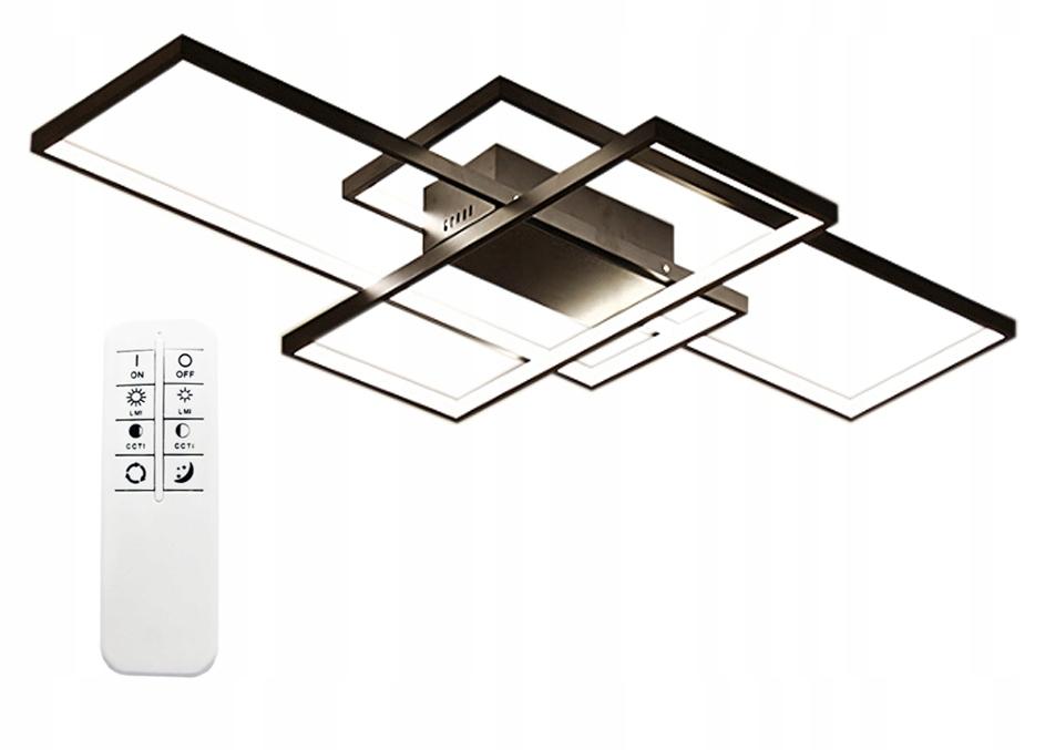 Minimalistyczna nowoczesna lampa Wobako Fenix Slim II - prostokaty do nowoczesnego salonu
