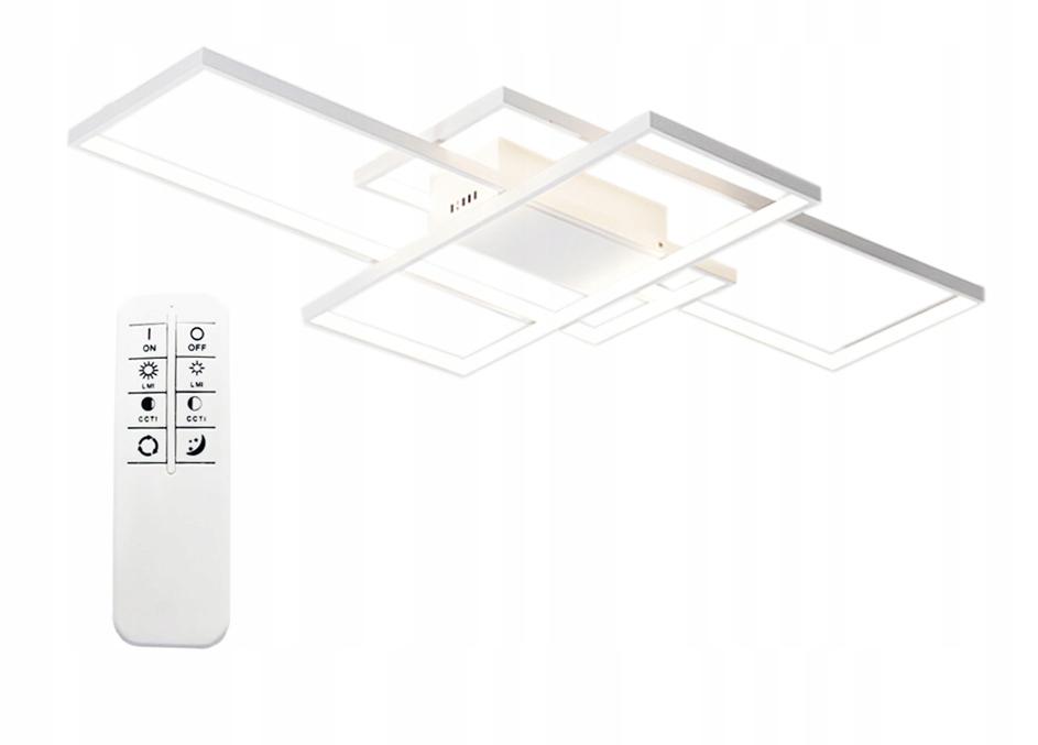 Idelana nowoczesna lampa do jadalni Fenix Slim II - prostokąt z pilotem
