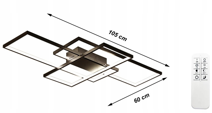 Fenix Slim II Wobako lampa LED prostokąty wymiar