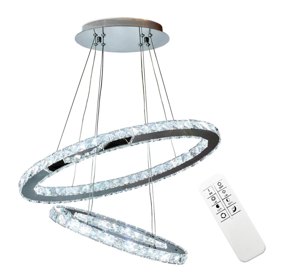 Lampa Olivia II kryształki glamour elipsy 40 + 60cm 5908272667332