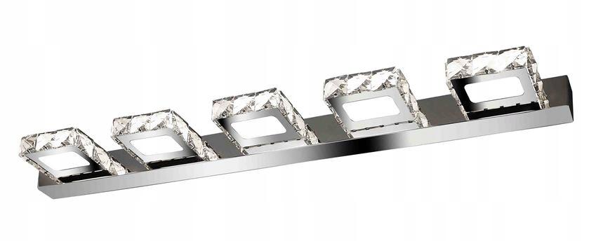 Kinkiet glamour Wobako Meteor Line V nowoczesne kryształki do łazienki