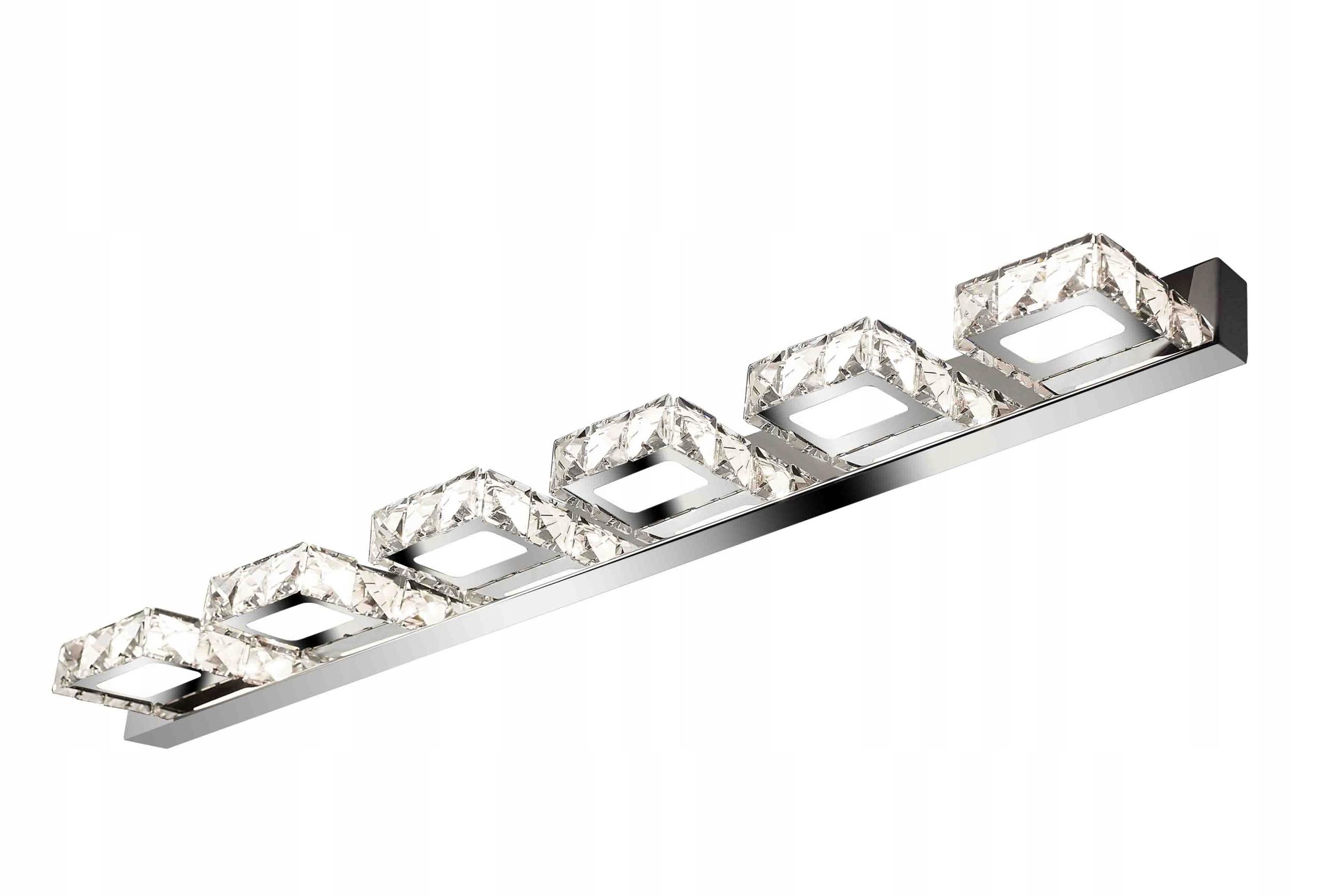 Blask szklanych kryształków glamour - kinkiet WOBAKO Meteor VI  104cm, lampa nad lustro do łazienki