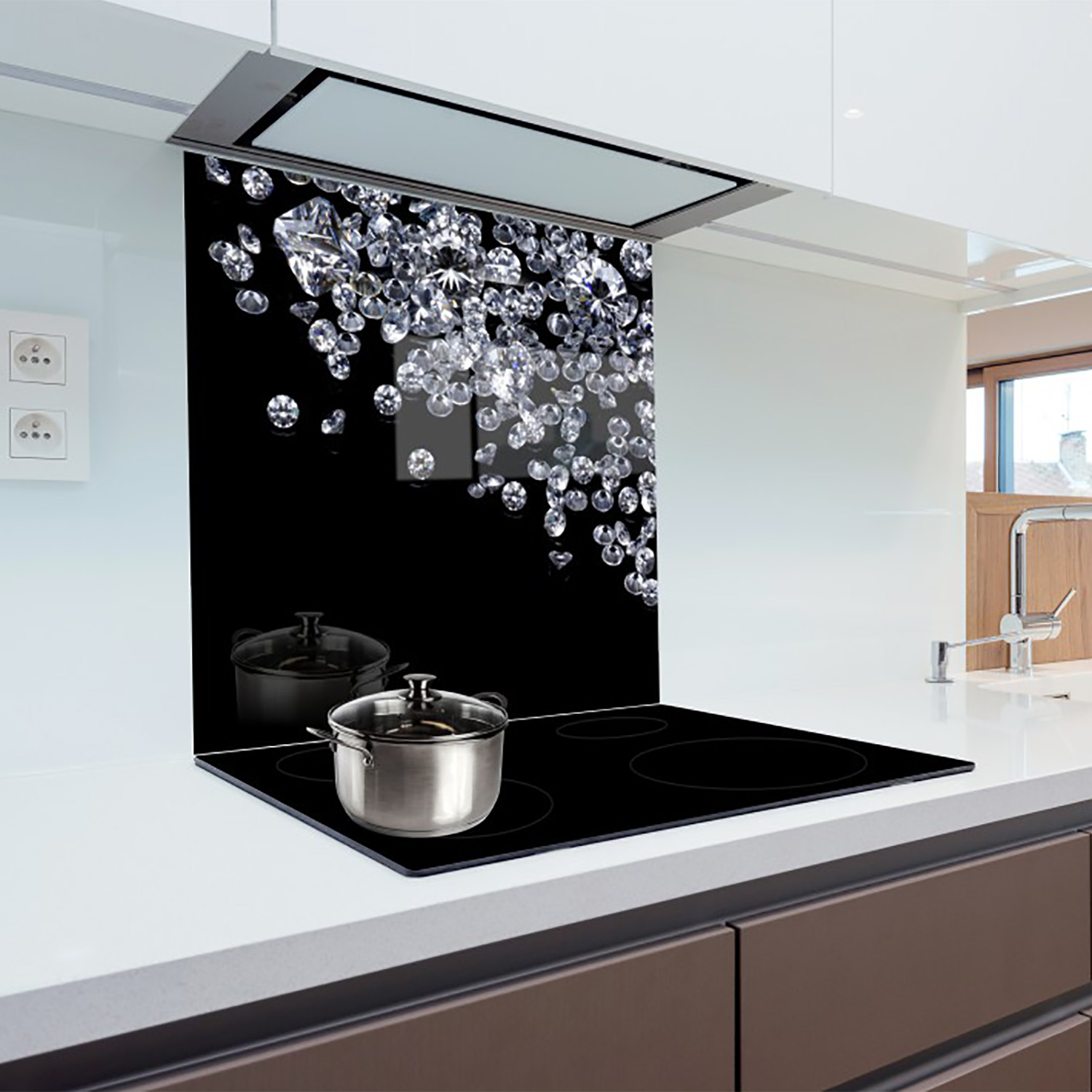Credence Cuisine: Glass Splashback Kitchen Printed Panels Heat Resistant