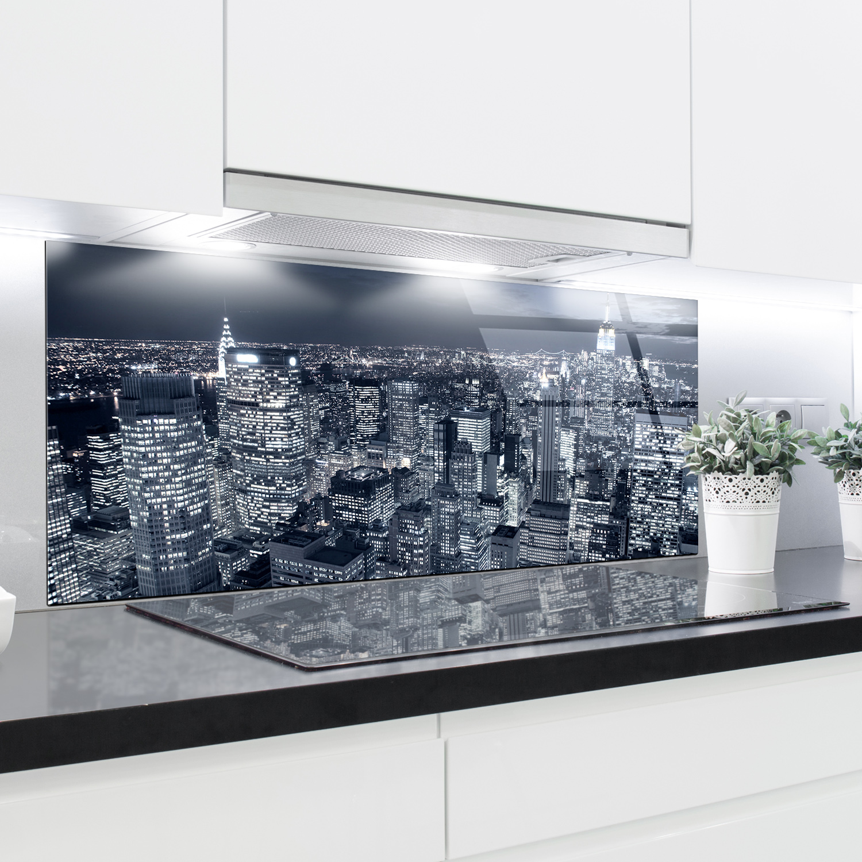 Kitchen Glass Splashback Printed Panels Heat Resistant Toughened Glass 125x50cm