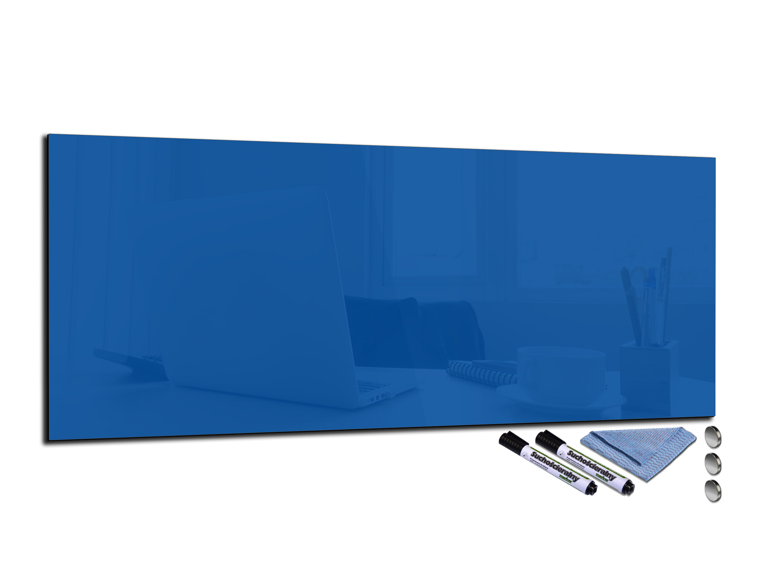 Glass Memo Board Magnetic Heat Resistant Toughened Glass 100x40cm
