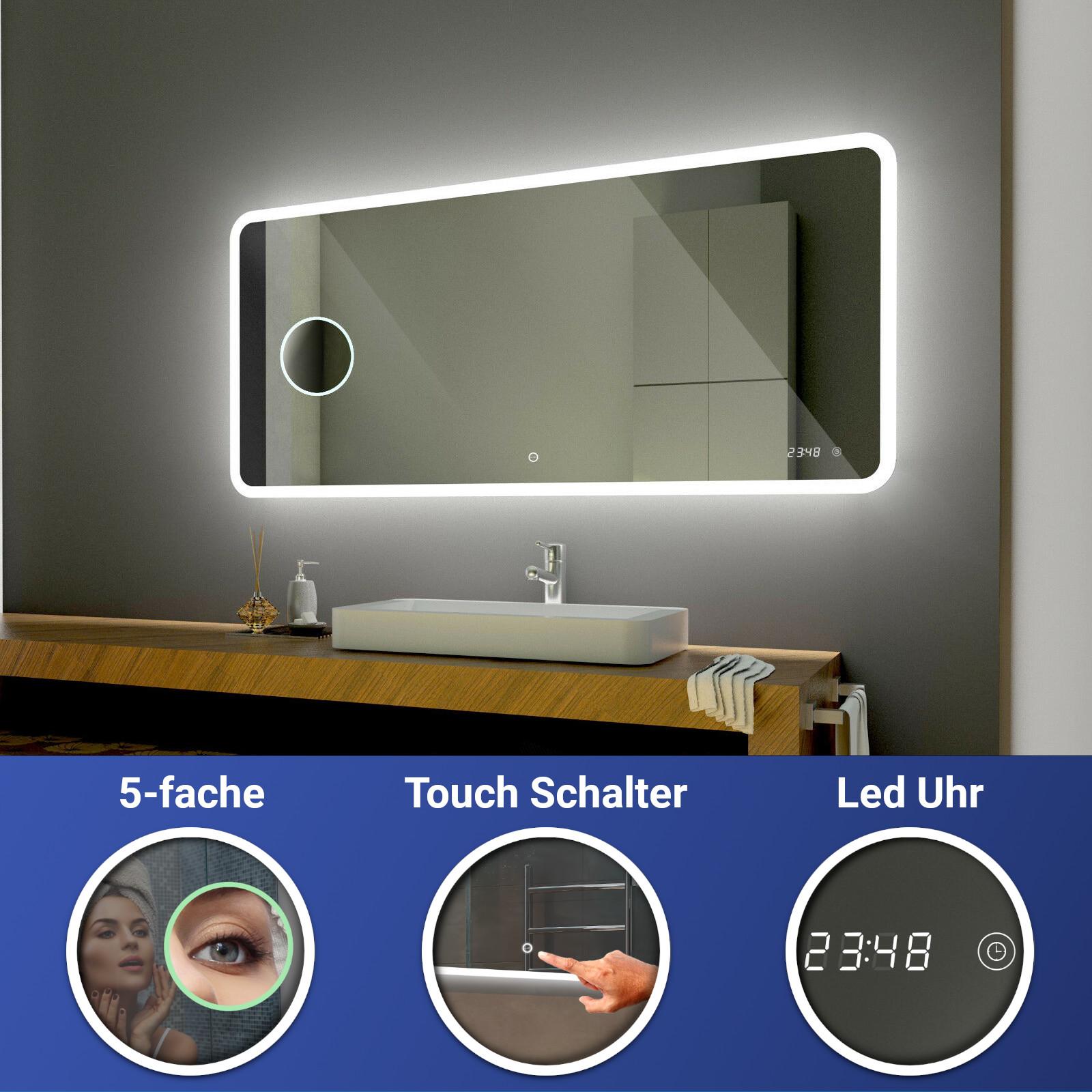 Osaka Badspiegel mit LED Beleuchtung Wandspiegel SpiegelBluetooth  Zubehör