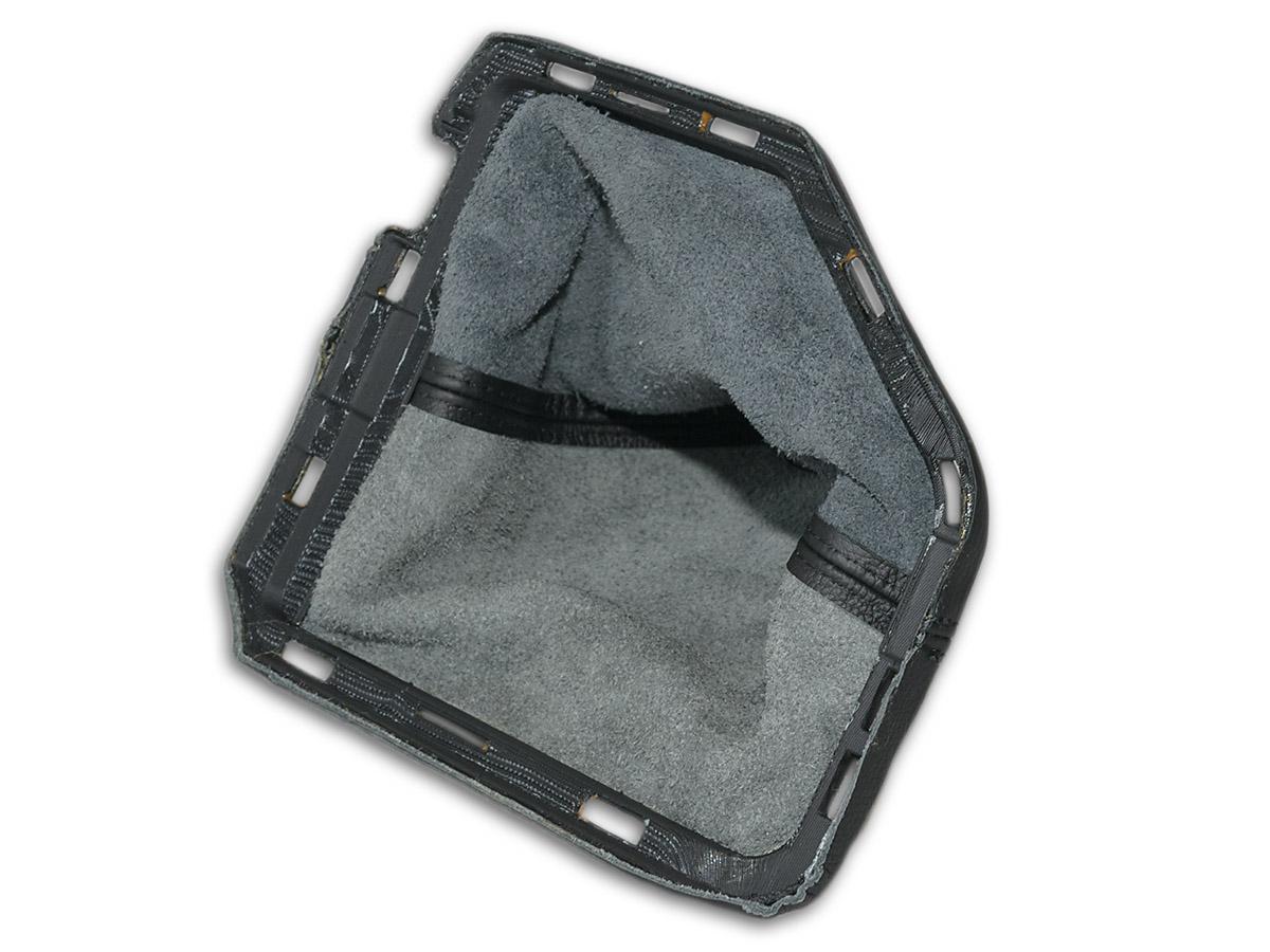 Soufflet de levier Cuir Noir avec cadre en plastique