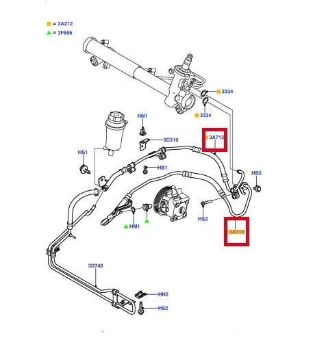 Hydraulikschlauch Servoleitung 4M51-3A212-CE F/ür Focus MK2 II C-Max 1.4 1.6