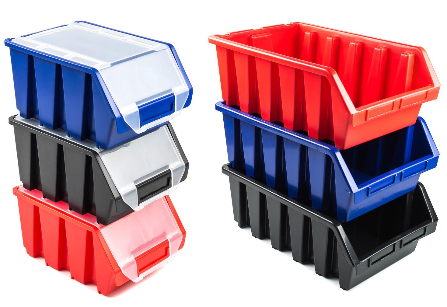 Boîte Rangement Empilable Bac à Bec Boîte Ergobox avec/sans Couvercle 3 Couleurs | eBay