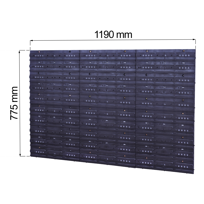 Stapelboxen Werkzeugwand 60 Boxen mit Deckel Montagewand Blau