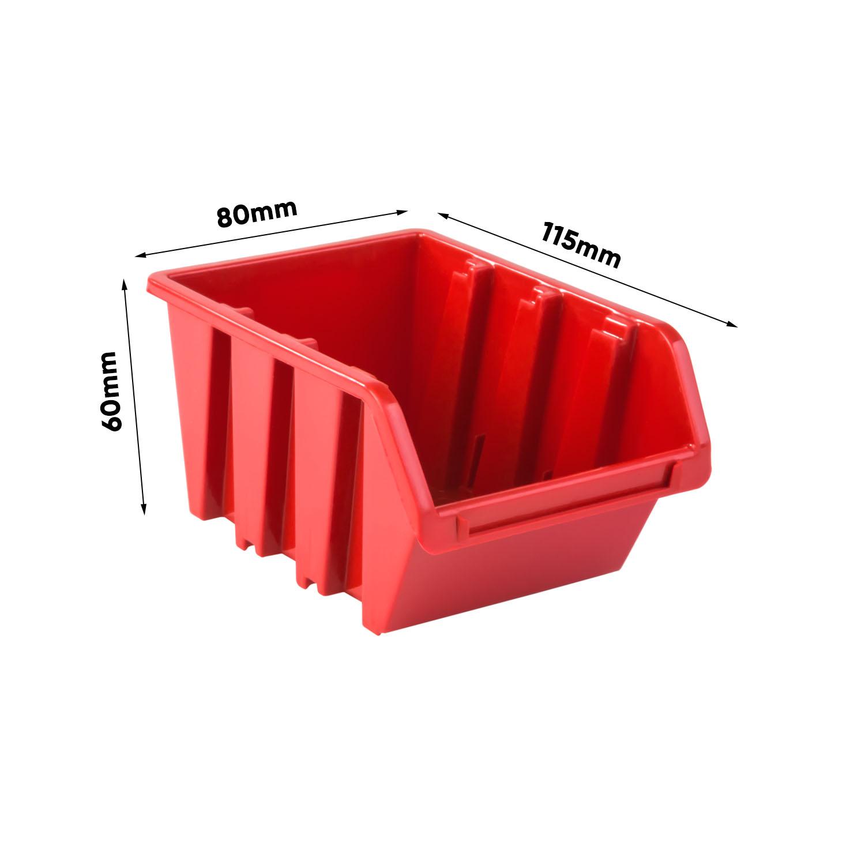 Lagersystem 780 X 772mm Stapelboxen Wandregal Sichtlagerkasten