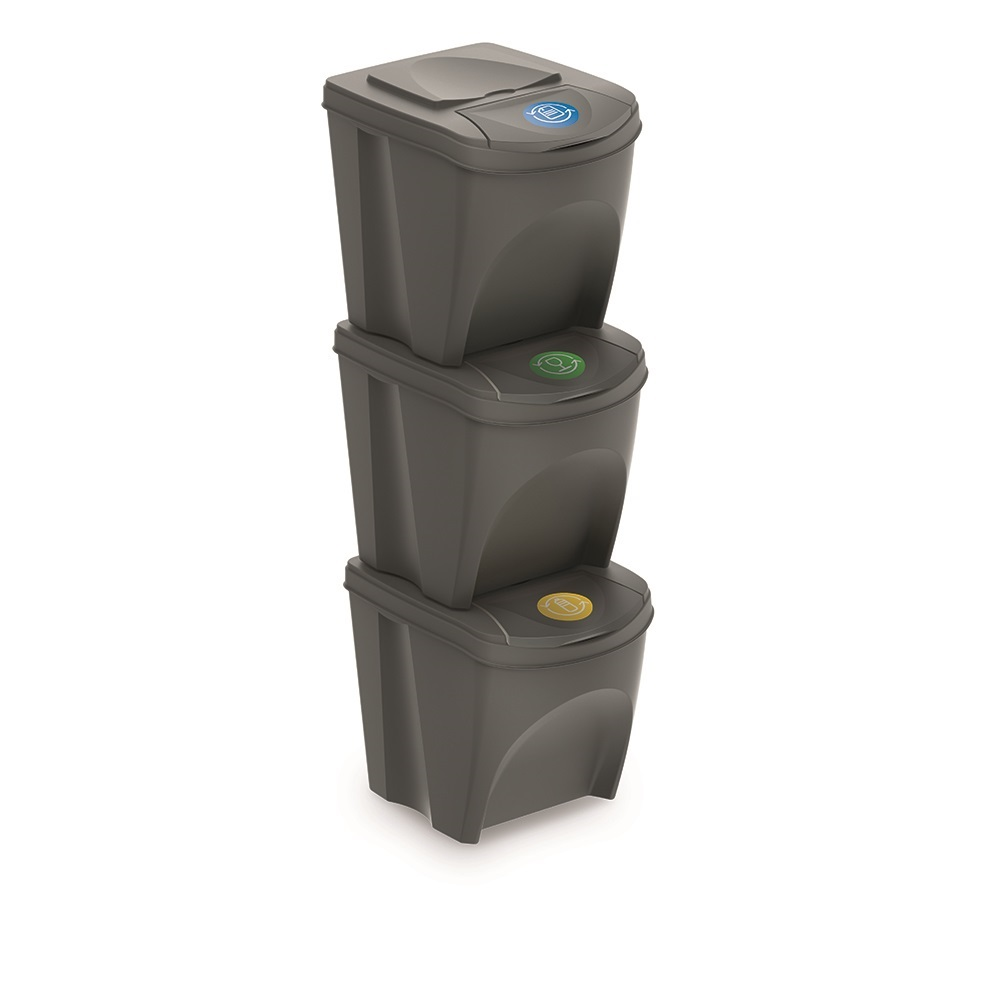 19er Set Mülleimer Küche (19 Liter 19x19L) Behälter Papierkorb