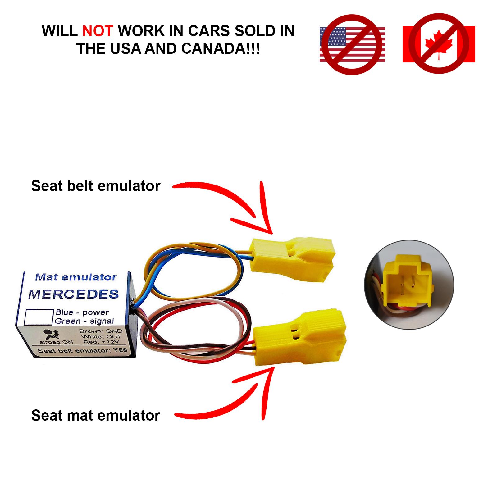 Bypass Passenger Seat Occupancy Sensor Mat Emulator For Mercedes C W203 2006-07