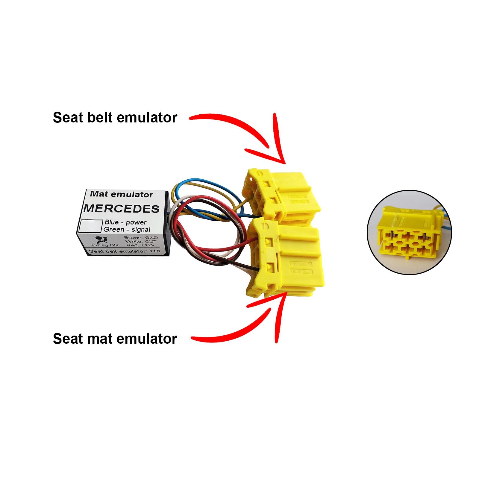 For Mercedes S Class W220 1998-2001 Bypass Seat Occupancy Mat Sensor Emulator